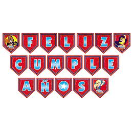GUIRNALDA FELIZ CUMPLEAÑOS DC SUPER HERO GIRLS 1 UNI