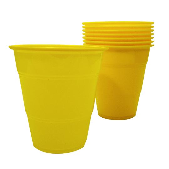 Vaso Plastico 350Cc Amarillo 10 Uni