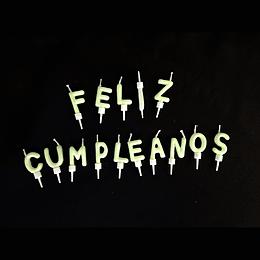 Vela Feliz Cumpleaños Fluorescente 15 Uni