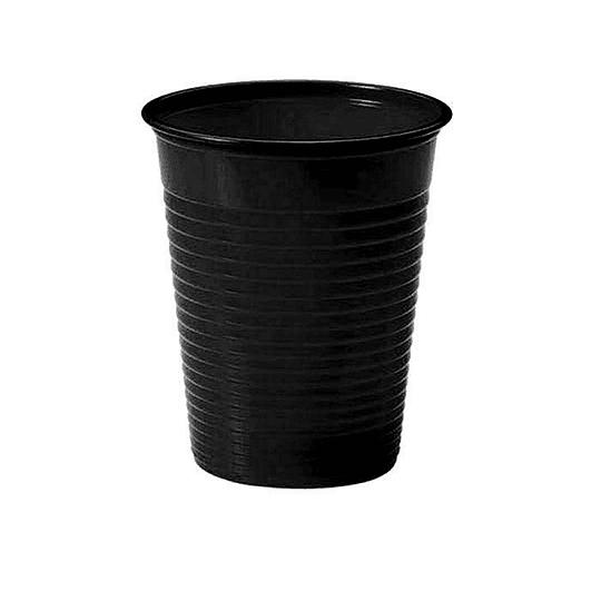 Vaso Plastico 300Cc Negro 50 Uni