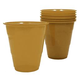 Vaso Plastico 350Cc Dorado 10 Uni