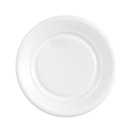 Plato Plastico Blanco 18 Cm 20 Uni