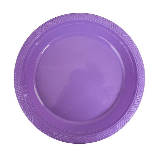 Plato Plastico 18 Cm Lila 10 Uni