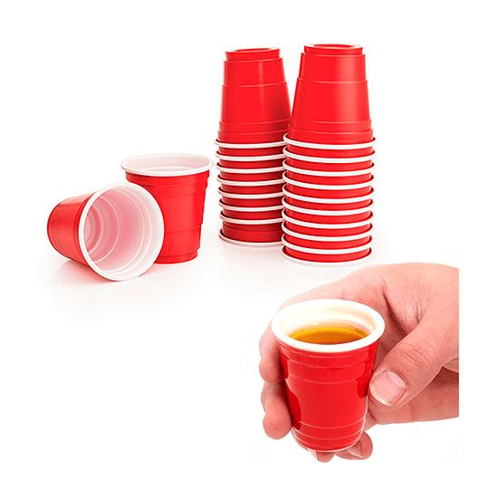 Vasos Shot Rojo 20 Uni