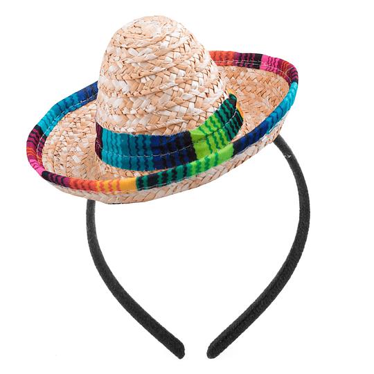 Cintillo Sombrero Mexicano Paja 1 Uni
