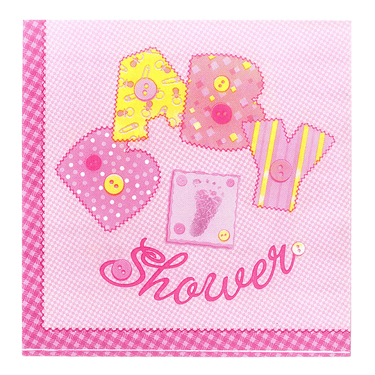 Servilleta Baby Shower Rosado 20 Uni