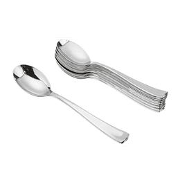 Cuchara Plastica Metalizada 12 Uni