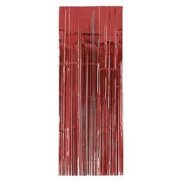 Cortina Metalizada Roja 240X100Cm 1 Uni