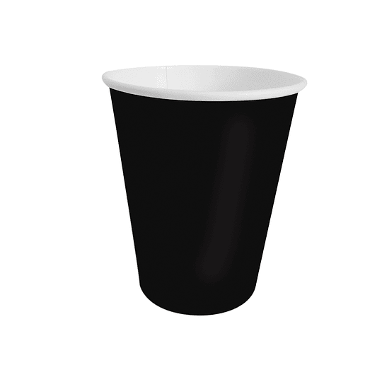 Vaso Polipapel 250Cc Negro 20 Uni
