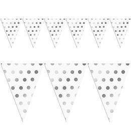 Guirnalda Banderines Puntos Plateados 1 Uni