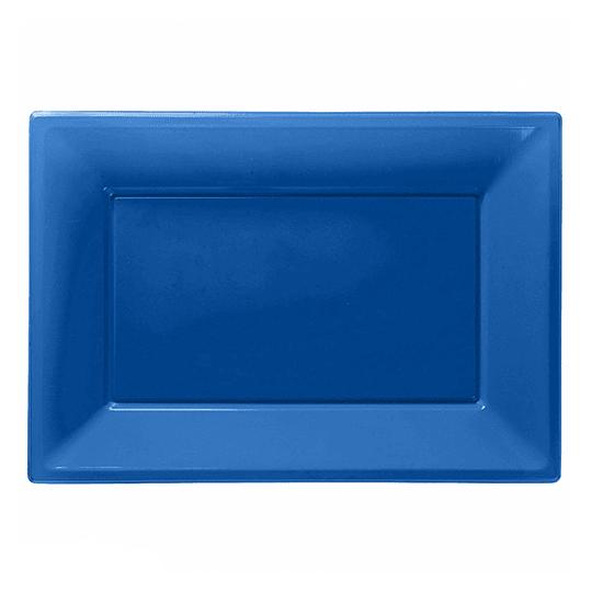 Bandeja Rectangular Azul 3 Uni