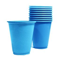 Vaso Plastico 230Cc Turquesa 10 Uni