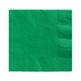 Servilleta Color Verde Oscuro 20 Uni