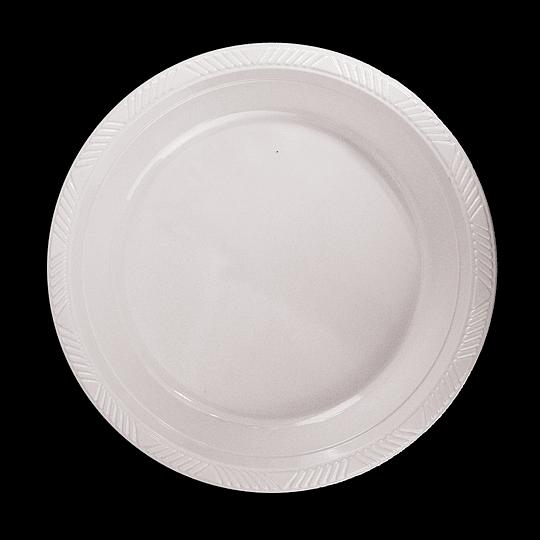 Plato Plastico 18 Cm Blanco 10 Uni