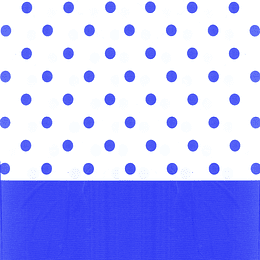Mantel Puntos Azul 1 Uni