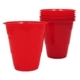 Vaso Plastico 350Cc Rojo 10 Uni