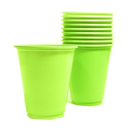 Vaso Plastico 230Cc Verde Lima 10 Uni