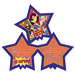 Tarjetas De Invitacion Dc Super Hero Girls 6 Uni
