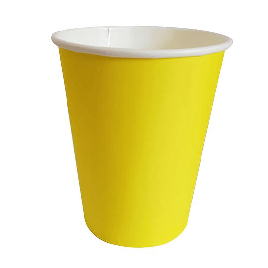 Vaso Polipapel 250Cc Amarillo 20 Uni