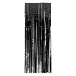 Cortina Metalizada Negra 240X100Cm 1 Uni