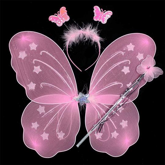 Set Alitas Mariposa Colores Surtidos 1 Uni