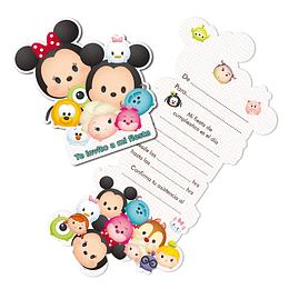 Tarjetas De Invitación Tsum Tsum 6 Uni