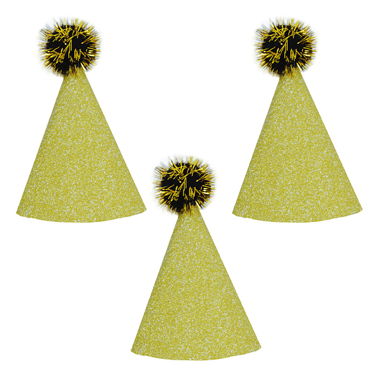 Gorritos Glitter Dorados 6 Uni
