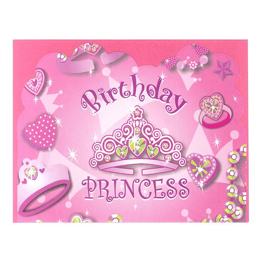 Tarjeta Invitacion Princess 6 Uni