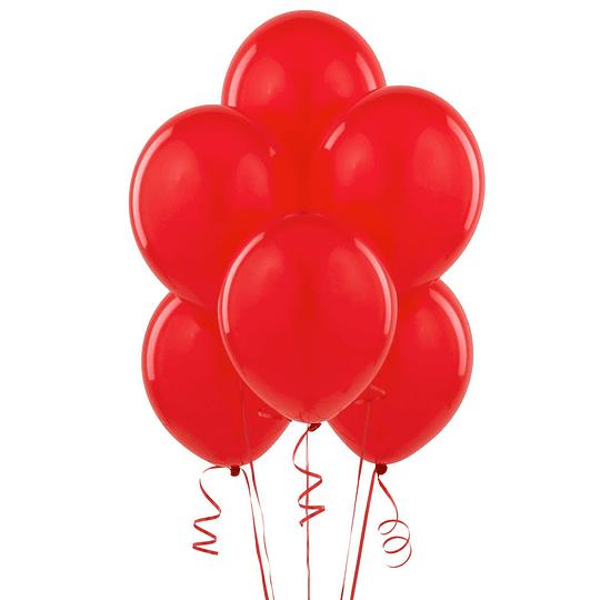 Globo Liso Glam #9 Rojo 50 Uni