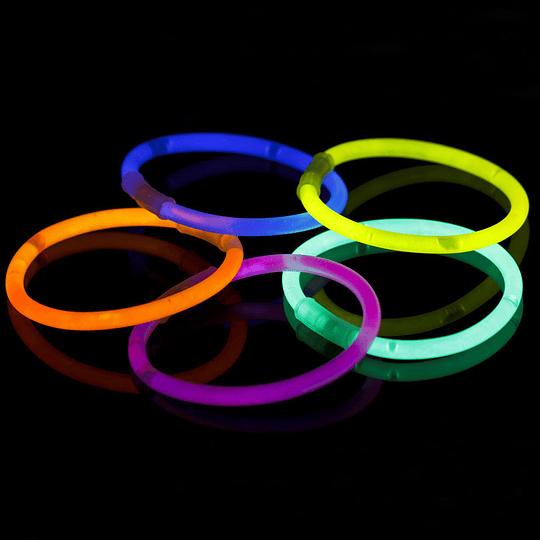 Pulsera Light Stick Tubo Surtido 15 Uni