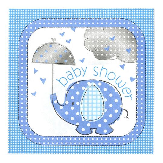 Servilleta Baby Boy Elefante 20 Uni