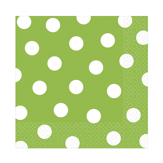 Servilleta Puntos Verde Lima 20 Uni