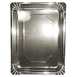 Bandeja Carton Plateada 30X40Cm 1 Uni