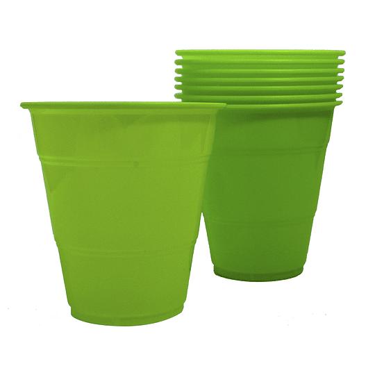 Vaso Plastico 350Cc Verde Lima 10 Uni