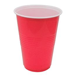 Vaso Plastico 480Ml Rojo Blanco 20 Uni