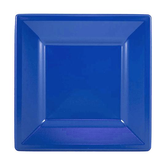 Plato Cuadrado Azul 10 Uni