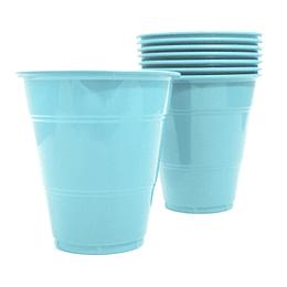 Vaso Plastico 350Cc Celeste 10 Uni