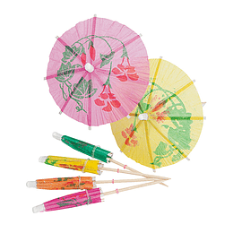 Picks Paraguas 10 Cm Colores 12 Uni