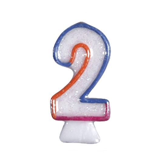 Vela Numero Brillante #2 1 Uni