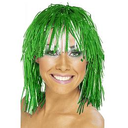 Peluca Metalica Color Verde 1 Un