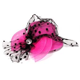 Mini Sombrero Clip Gasa Lunares Colores 1 Uni