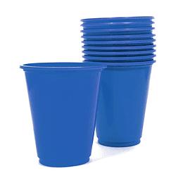 Vaso Plastico 230Cc Azul 10 Uni