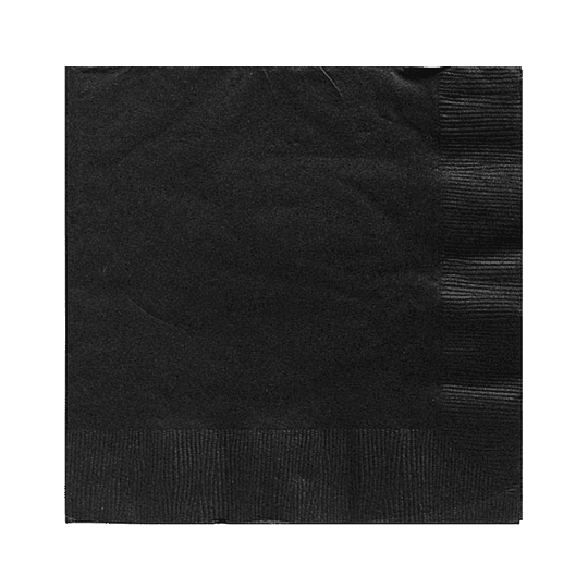 Servilleta Color Negro 20 Uni