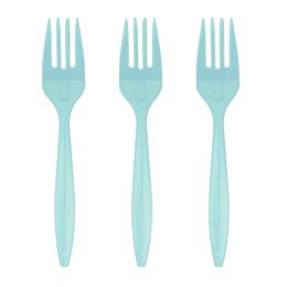 Tenedor Plastico Basic Celeste 20 Uni