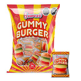 Gummy Mini Burger Bolsa 36 Uni