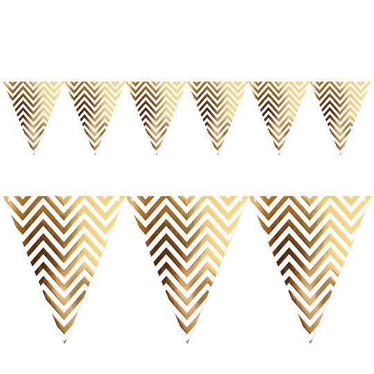 Guirnalda Banderines Zigzag Dorados Met 1 Uni