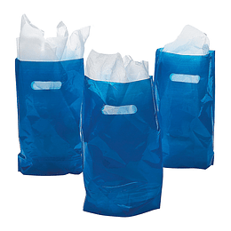 Bolsas Para Dulces Color Azul 10 Uni