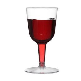 Copa Vino Plastica Transparente 150 Ml 6 Uni