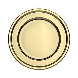 Plato Plastico 18 Cm Metal Oro 10 Uni
