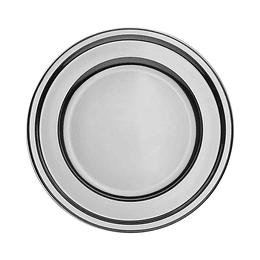 Plato Plastico 18 Cm Metal Plata 10 Uni